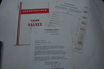 1974 Lunkenheimer Guide For Selecting Valves Bronze Iron Steel Butterfly Oil Cup