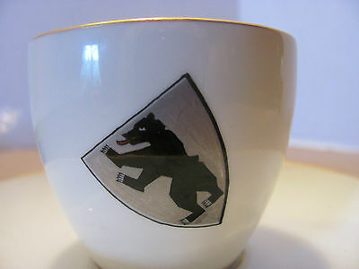 Vintage KPM RARE Scepter Cup Saucer Demitasse Berlin Driesen Bear Collectible