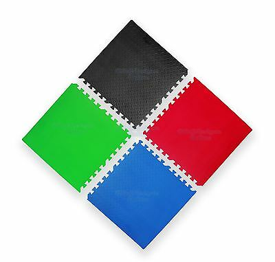 MULTI COLOUR INTERLOCKING SOFT FOAM FLOOR EVA MATS 60 x 60m, 12mm YOGA HOME GYM