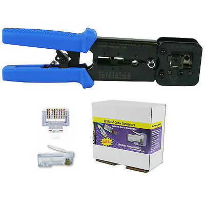 Platinum Tools 100054 EZ-RJPRO HD Crimp Tool with EZ-RJ45 Cat 6+ 100 Connectors