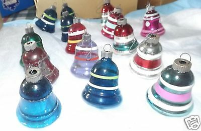 Vintage Christmas Glass Ornaments Balls Bells (6) Some Unsilvered Shiny Brite