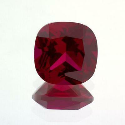 10mm Cushion Cut AAA Lab Created Ruby