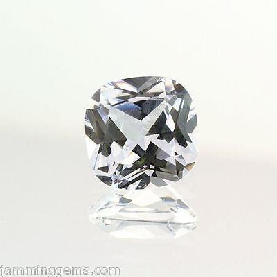 10mm Cushion Cut AAA Lab Created White Sapphire