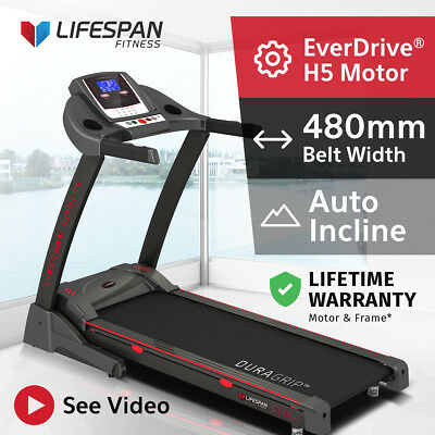 Lifespan Electric Treadmill Fitness Home Gym Quiet EverDrive® Motor #STRIDE