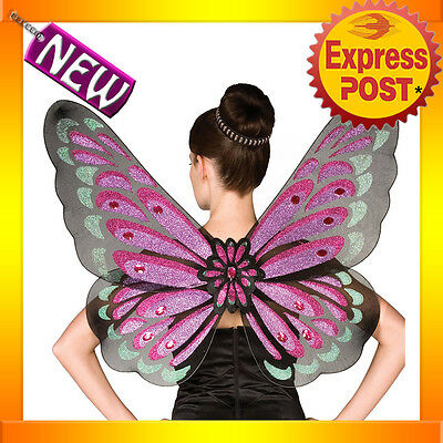 A224 Gothic Butterfly Fairy Purple Black Red Adult Ladies Angel Fairy Wings