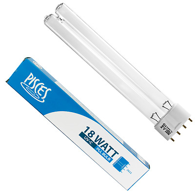 2 X 18W 18 Watt Pll Pond Filter Uv/Uvc Bulb/Light/Tube/Lamp Ultra-Violet