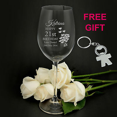 Personalised Premium 360ml Wine Glass Engraved Birthday 18th 21st 40th 50th Gift