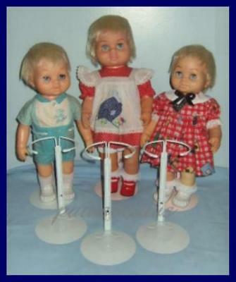 3 KAISER Doll Stands fits BABY CHATTY CATHY & Tiny Chatty Baby