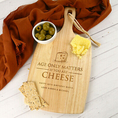 Personalised Cutting Board, Wooden Engraved Chopping Board, Birthday Gift 40th
