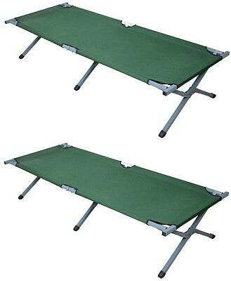 LOT2~Outdoor Portable Folding Cot Military Hiking Camping Sleeping Bed Full Size