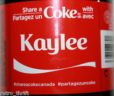 Share a Coke with Kaylee New 591ml Bottle from Canada Coca Cola Ltd Edition