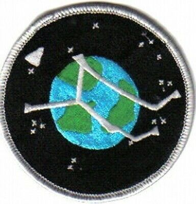 Stargate Atlantis TV Series Project Logo Planet Embroidered Patch, NEW UNUSED