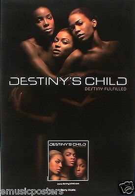 "DESTINY'S CHILD ""DESTINY FULFILLED"" HONG KONG PROMO POSTER - Nude Trio Together"