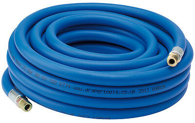 "Draper 10m Compressor Airline Hose 1/4"" BSP Male Fittings 6mm I/D Air Tools"
