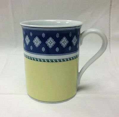 "HUTSCHENREUTHER ""MEDLEY VICENZA"" MUG 3 3/4"" YELLOW BLUE PORCELAIN NEW GERMANY"