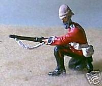 TOY SOLDIERS METAL ZULU WAR 24th ft SOLDIER LOADING 54MM