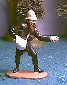 TOY SOLDIERS METAL ZULU WAR BRITISH 24TH FT COMMISERATE HANDING OUT AMMO