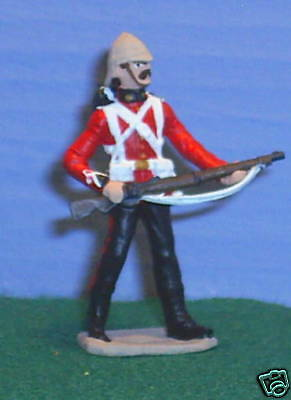 TOY SOLDIERS METAL BRITISH 24TH FT SOLDIER AT READY 54MM