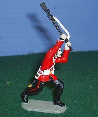 TOY SOLDIERS TIN ZULU WAR BRITISH 24 TH FT CLUBBING WITH RIFLE 54MM