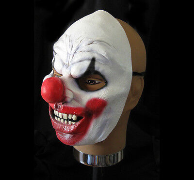 Evil Clown Scary Latex Ghoulish Productions Half Halloween Mask