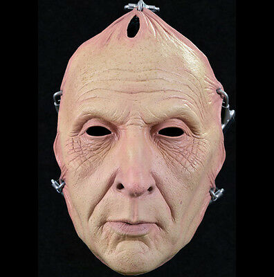 Deluxe Saw Jigsaw Pulled Flesh Killer Movie Adult Latex Halloween Mask