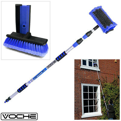 Voche® 3M Aluminium Triple Telescopic Car Wash Window Brush + Free Squeegee