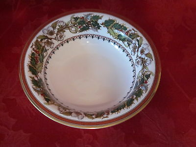 SPODE FINE BONE CHINA CHRISTMAS ROSE CEREAL SOUP BOWL FRUIT BOWL NEW W TAG