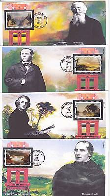 Jvc Cachets - Set Of 4 - 2014 Hudson River School First Day Covers Fdc Topical