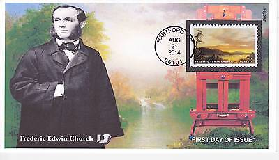 Jvc Cachets - 2014 Hudson River School First Day Covers Fdc Topical F.e. Church