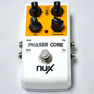 NUX Phaser Core Guitar Effect Pedal 4-stage& 8-stage Tone Lock True bypass