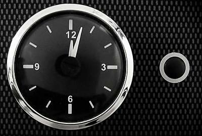 High Quality Car Analogue Clock Black Face with Stainless Steel Bezel 12v 24v