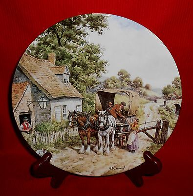Royal Doulton Plate The Toll Gate by John Chapman-The Countryside Remembered