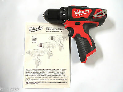 NEW MILWAUKEE M12 2407-20 12V CORDLESS LI-ION DRILL DRIVER bare tool