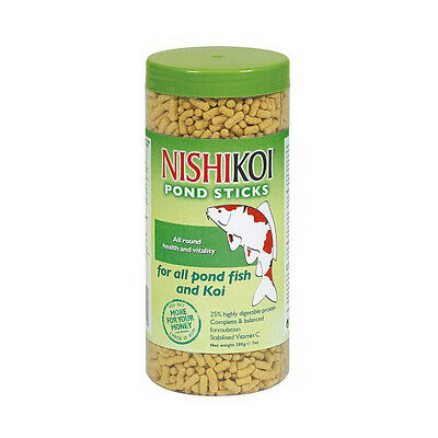 Nishikoi Pond Sticks 205G Jar Floating Koi Fish Food Goldfish Feed