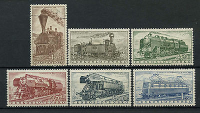 Czechoslovakia 1956 SG#946-951 Railway Locomotives England MNH/Used Set #A71410
