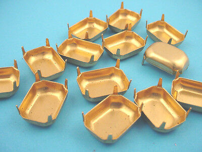 Brass Octagon Prong Settings 18x13 No Rings