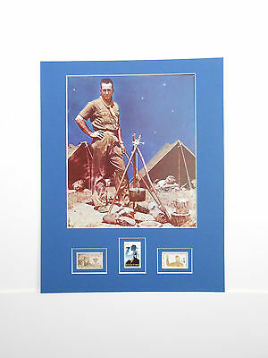 Scoutmaster Boy Scouts Norman Rockwell Art Print Three BSA Stamps