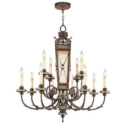 Livex Lighting Bristol Manor Chandelier, Palacial Bronze - 8829-64
