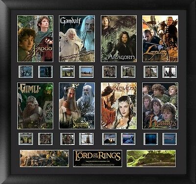 Film Cell Genuine 35mm Framed & Matted The Lord of the Rings Character Montage