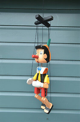 ANTIQUE STYLE ARTICULATED WOODEN PINNOCHIO PUPPET FIGURE HAND CARVED WOOD