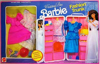 Barbie Wedding Day Fashion Trunk with Fashions and Accessories Playset 1991 (N..
