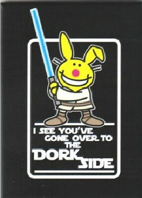 Happy Bunny I See You've Gone Over to the Dork Side Star Wars Spoof Magnet, NEW