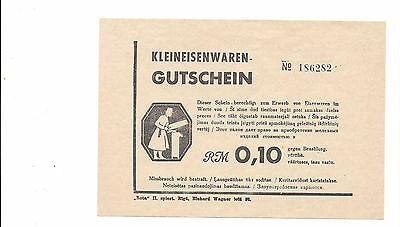 WW2 Baltic states German Occupation SB.1061 page 799 Kleineisenwaren RM 0,10 UNC