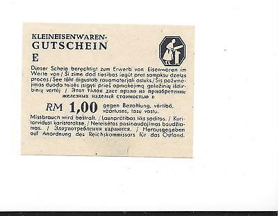 WW2 Baltic states German Occupation SB. page 799 Kleineisenwaren RM 1,00 UNC