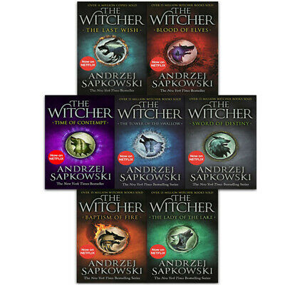 Andrzej Sapkowski Witcher Series Collection 7 Books Set pack Blood of Elves NEW