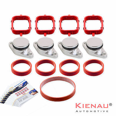 4 x 22 mm BMW SWIRL FLAP REPLACEMENT REMOVAL BLANKS  MANIFOLD with VITON GASKETS