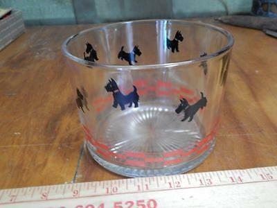 Scotty Dog, Ice Bucket, Great Retro Look, Red Checkered Design w/Black Scotties!
