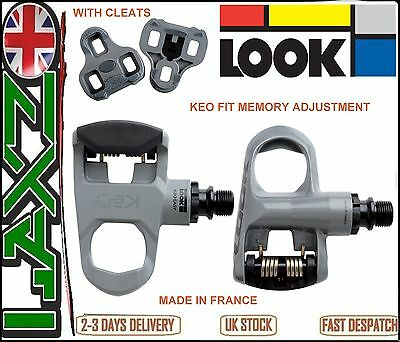 Look Keo easy Road Bike Pedals Grey Bicycle cycle racing pedal clipless grey