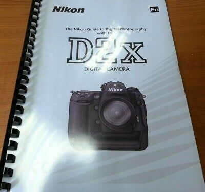 NIKON D2X PRINTED Instruction Manual User Guide 279 Pages