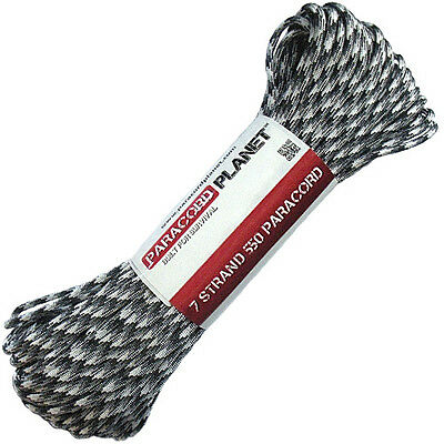 Urban Camo 550 Paracord Mil Spec Type III 7 Strand Parachute Cord 100 ft Hank